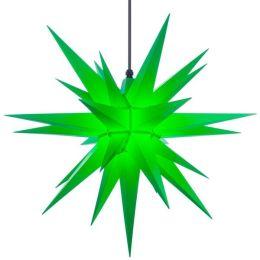 Original Herrnhuter Stern A7 aus Kunststoff für die Außen- und Innenverwendung, grün